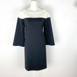 GAP knit colorblock Bell Sleeve Shift Dress mini